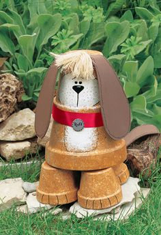 Flowerpot Watchdog: Now everyone can have a dog in their yard.            www.craftsnthings...