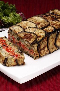 Greek Vegtable Terrine It's like a vegetable meat loaf! Greek Recipes, Vegetable Recipes, Vegetarian Recipes, Cooking Recipes, Greek Vegetables, Veggies, A Food, Food And Drink, Eggplant Recipes