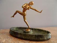 Bronze Tänzerin signiert M. Gimbel