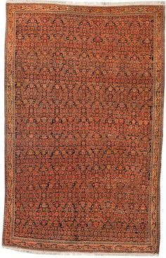 Malayer rug  Central Persia  circa 1920  size approximately 4ft. 3in. x 6ft. 9in.