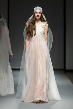 French lace, vintage inspired wedding gown for the modern bohemian bride - Lyric - featured at Riga Fashion Week