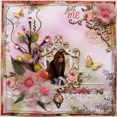 Such a Pretty Mess: Bloom Tutorial done with Websters Pages Netting & Whimsies!