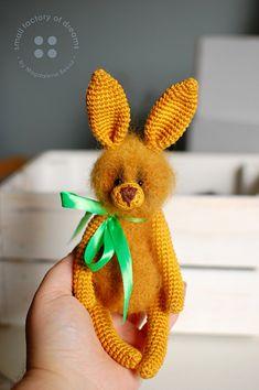 Bui bunny - mustard bunny My Sewing Room, Alpaca Wool, Black Glass, Crochet Toys, Mustard, Hedgehog, Organic Cotton, Dinosaur Stuffed Animal, Etsy Seller