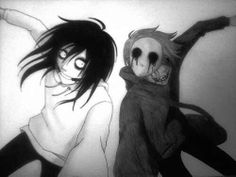 Jeff the Killer and Eyeless Jack. Two of my favorite Creepypasta's besides Ticci Toby and Laughing Jack. Eyeless Jack, Creepypasta Proxy, Creepypasta Characters, Creepy Stories, Horror Stories, Fnaf, Creepy Pasta Family, Dhmis, Ben Drowned
