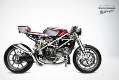 classic cafe racer red candy bmw - Google Search