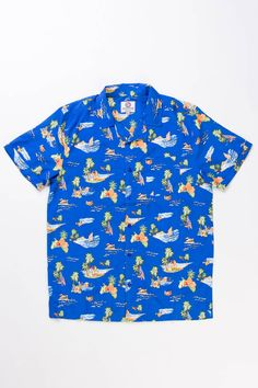 Blue-Ocean-Print-Hawaiian-Shirt-2