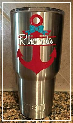 Yeti Cup Decal Monogram Sticker Personalized Stainless Cup Decal - Jeep vinyls for yeti cups
