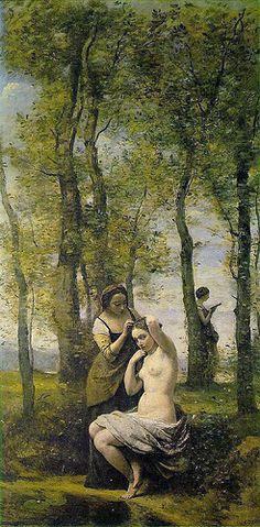Camille Corot: Le toilette (1859) Paris, Private Collection