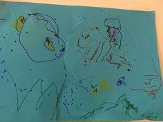 Nemo en Dory in de zee met een haai
