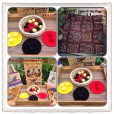 Indigenous play materials Incorporate the Pom Pom sort into everyday activities for inclusion