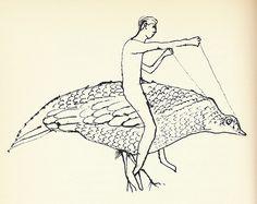 """Ben Shahn. """"Nude On Partridge"""""""