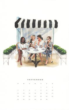 2016 Classic Art Calendar (Wall Calendar) By Inslee Haynes Art Calendar, Desktop Calendar, 2016 Calendar, Illustration Techniques, Fashion Painting, Megan Hess Illustration, Illustration Art, Fashion Sketches, Fashion Illustrations