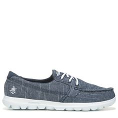 Get comfort in casual style with the On The GO Mist Boat Shoe from Skechers. Fashion Bags, Fashion Beauty, Skechers, Mists, Nike Free, Boat Shoes, Sneakers Nike, Lace Up, Navy