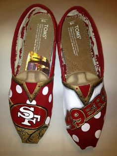 Hey, I found this really awesome Etsy listing at https://www.etsy.com/listing/165659492/san-francisco-49ers-hand-painted-toms