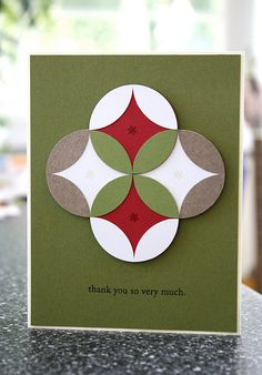 Neat circle card and how to make it!
