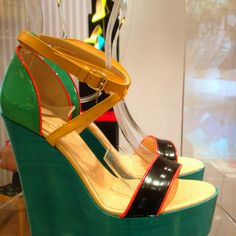 Beautiful Christian #Louboutin #Wedge #Shoes for the discerning lass ;-))