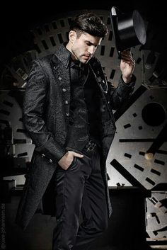 very sexy gothic look for the groom