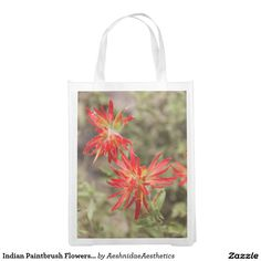 Save time, and a plastic tree, with reusable grocery bags from Zazzle! Check out all of the amazing designs or create your own! Indian Paintbrush Flowers, Reusable Grocery Bags, Create Your Own, Tote Bag, Design, Carry Bag, Design Comics, Tote Bags