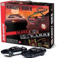 AUTO WORLD KNIGHT RIDER K.I.T.T HO SCALE SLOT CAR RACE TRACK SET