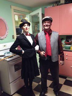 Mary Poppins and Burt Halloween costume