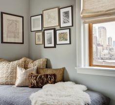 Get rid of the day bed, tuck twin bed in corner w/pillows to look like a sofa, works here in a dual/guest room office. Home Bedroom, Bedroom Furniture, Bedroom Decor, Bedrooms, Bedroom Shelves, Bedroom Apartment, Office Furniture, Modern Furniture, Bedroom Ideas