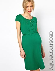 Asos Maternity Exclusive Belted Dress with Scoop Neck | More maternity here: http://mylusciouslife.com/kate-middleton-maternity-style-dresses/