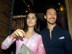 Tiger Shroff and Shraddha during Aamir Khan's Diwali celebrations