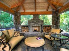 diy outdoor fireplaces | 20 Stunning Outdoor Fireplaces | Bridgman Furniture & Outdoor Living ...
