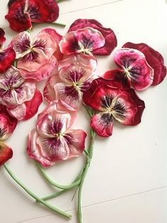 Pansy - Vintage Millinery Flowers in shades of pink. Faux Flowers, Silk Flowers, Fabric Flowers, Paper Flowers, Beaded Flowers, Painted Flowers, Ribbon Art, Ribbon Crafts, Ribbon Flower