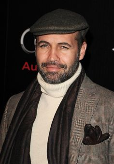Billy Zane in newsboy cap