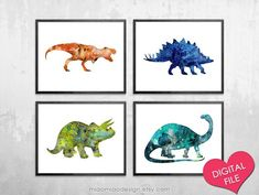 Dinosaur prints available at Nursery Decor Boy, Boys Bedroom Decor, Bedroom Art, Nursery Wall Art, Dinosaur Nursery, Dinosaur Art, Dinosaur Prints, Dinosaur Posters, Dinosaur Printables