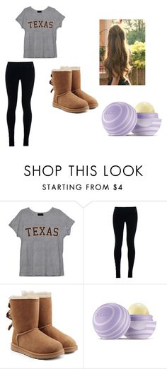 """""""Sick Day"""" by fashionista-dxliv on Polyvore featuring NIKE, UGG Australia, Eos, women's clothing, women, female, woman, misses, juniors and lazy"""