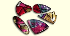 premo! Dichroic Illusions Pin. Make these glamorous faux dichroic pins to wear or give as the perfect gift.