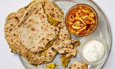 Meera Sodha's aloo paratha with a quick lemon pickle.