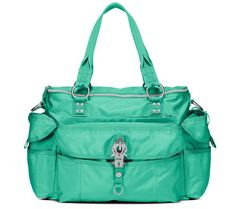 A pop of colour with George Gina & Lucy baby bags - babyology.com.au/...