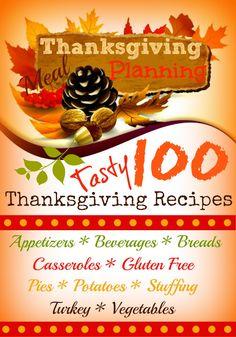 100 Tasty #Thanksgiving #Recipes holiday food, thanksgiv recip, thanksgiv idea, tasti thanksgiv, thanksgiving recipes, gluten free, yummi, 100 tasti, thanksgiv food