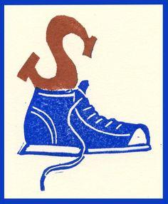 Sinterklaas, chocoladeletter, A Stamp A Day, Gertie Jaquet
