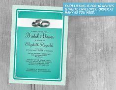 Turquoise Bridal Shower Invitations