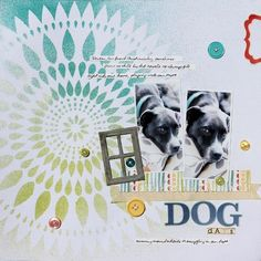 Swell layout from @Ronda Palazzari using The Crafter's Workshop Stencil Zinnia