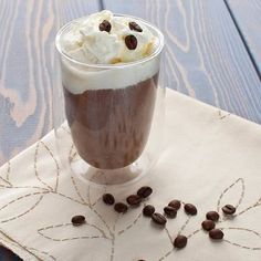 Пунш кофейный с мороженым  Ингредиенты:  Кофе — 150 мл Взбитые сливки — 20 мл  Сахар — 2 ч. л. Ямайский ром — 20 мл Ванильное мороженое — 100 г  Приготовление:  1. Смешайте сахар с охлажденным кофе. 2. Добавьте ром. 3. Перед подачей вылейте кофе с ромом в бокал, сверху положите мороженое. 4. Украсьте взбитыми сливками. 5. Оригинальный кофейный пунш готов к подаче на стол!