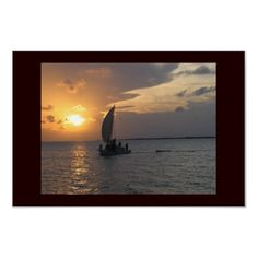 Belizean Sunset Print from http://www.zazzle.com/belize+gifts