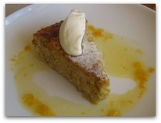 Almond, Pear and Honey Cake with Orange & Honey Syrup (Gluten Free, Dairy Free)