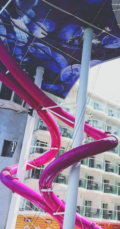 Harmony of the Seas | Experience the twists, turns, and drops of the tallest slide at sea; Royal Caribbean's Ultimate Abyss. Photo by Pam.