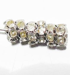 100pcs 6mm Platinum Rhinestone Spacer Beads GUNMETAL $5.99 by FireSwanBeads HTTP://WWW.FIRESWANBEADS.ETSY.COM