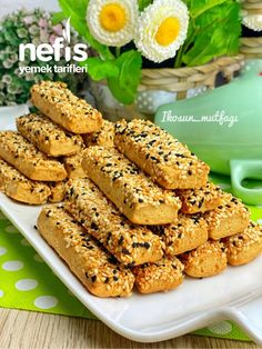 Sweet Cookies, Cake Cookies, Turkish Recipes, Desert Recipes, Dessert Bars, Chicken Wings, Cookie Recipes, Easy Meals, Food And Drink