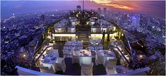 Moon Bar in Bangkok.  Located at the 61st floor of the Banyan Tree Hotel
