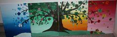 """Butterflies Seasons Series"" oils on canvas. 4(16"" x 20"")"