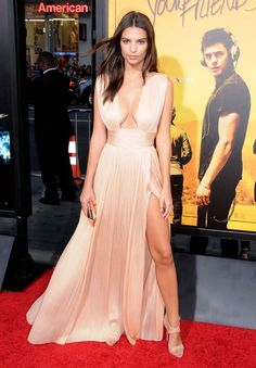 In a Maria Lucia Hohan dress at the We Are Your Friends premiere in Hollywood. - ELLE.com