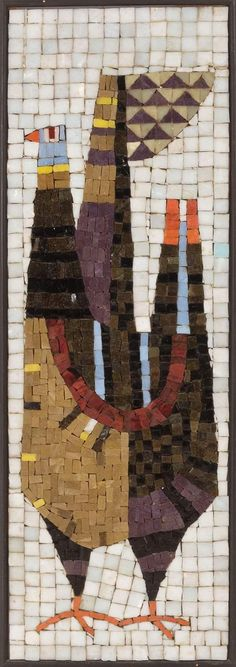 An item that' become an icon of American Modern decorative arts is the glass mosaic wall panels designed Evelyn Ackerman and produced by Era Industries of Los Angeles in the 1950's.