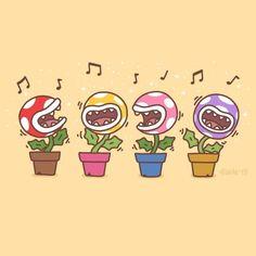 My singing piranha plants Creepypasta Anime, Nintendo Sega, Super Nintendo, Super Mario Art, Super Mario Brothers, Anime Furry, Mario And Luigi, Video Game Art, Cultura Pop